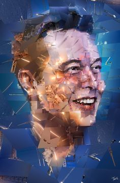 Elon Musk: The rocket man Mosaic portrait of Elon Muck created with photos from the SpaceX activities. But wouldn't this be cooler if it was moving like a boomerang video Elon Musk Zitate, Elon Mask, Elon Musk Spacex, Tesla Spacex, Elon Musk Quotes, Kim Chungha, Mosaic Portrait, Photo Mosaic, Co Working
