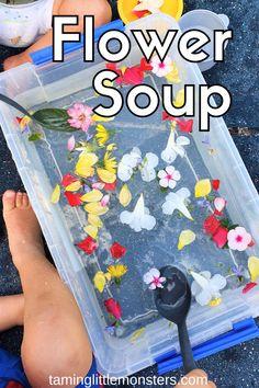 Flower Soup - Easy Spring Sensory Bin for Kids