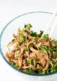 Sichuan Style Spicy Chicken Salad | Light Orange Bean