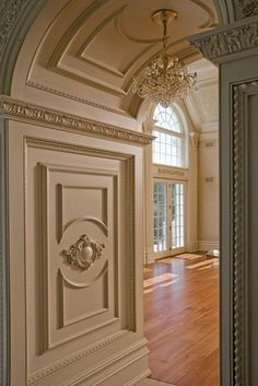 trim, large molding. Have always loved the wide archways and to have it with decorative moldings is heavenly. B.
