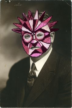 Lucha Libre Mask on Vintage photo by Julie Chase