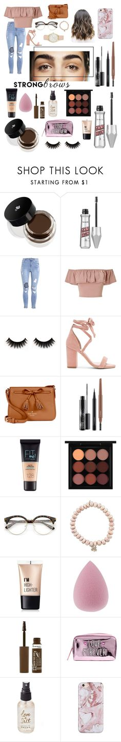 """Untitled #17"" by erinnicole16 ❤ liked on Polyvore featuring beauty, Lancôme, Benefit, Miss Selfridge, Raye, Kate Spade, MAC Cosmetics, Maybelline, Sydney Evan and Charlotte Russe"
