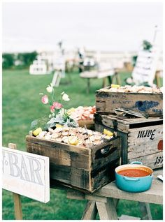 A raw bar from a featured wedding at the Chatham Bars Inn. http://blisscelebrationsguide.com