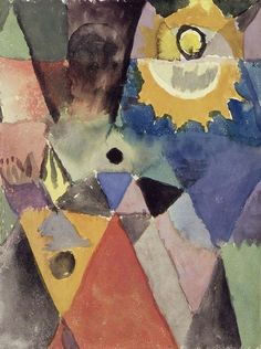 Paul Klee. With a Gas Lamp,1915 [source]