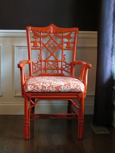 Chinoiserie Chic: Amazing Craigslist Chinoiserie Find & Giveaway Winner 🈳 Plywood Furniture, Asian Furniture, Chinese Furniture, Bamboo Furniture, Painted Furniture, Furniture Design, Bamboo Chairs, Chippendale Chairs, Faux Bamboo