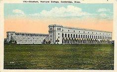 Cambridge Massachusetts 1916 Harvard Football Stadium Antique Vintage Postcard