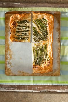 Asparagus tart. Great appetizer or light dinner with a salad. Best with a buttery Chardonnay