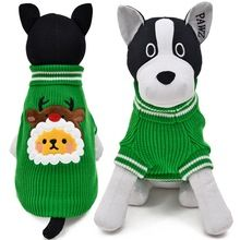 Winter Warm Dog Clothes Lovely Christmas Tree Elk Pet Clothes Puppy Sweaters Red Green Cat Clothes Pet Coat Small Dog Apparel(China (Mainland))