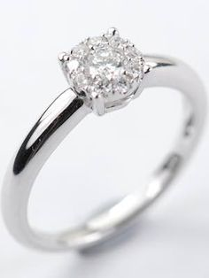 Shimmering Diamond Engagement Ring,  RG-3622, Topazery   This vintage style engagement ring with diamonds shimmers from every angle.