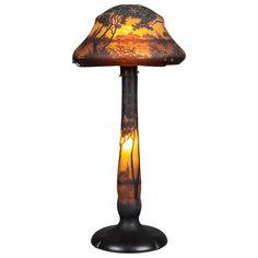 An Important Antique Art Nouveau Cameo Landscape Lamp By Daum Freres of Nancy   1stdibs.com