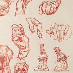 """More hand demos in a student drawing pad. The hands are drawn from my head, but probably derived from George Bridgeman's """"Book of 100 Hands"""", a wonderful little book I essentially memorized years ago. #howtodraw #drawanyway #howtodrawings #lifedrawingteacher #drawingteacher #pencildrawing #inventivedrawing #ctnx2016 #ctn2016 #marvel #dccomics #willwestonstudio #uclaanimationworkshop #ctn2016 #ctnx #ctnxpo #conceptart #menorcapulsar #creativityfound #romeartworkshops"""