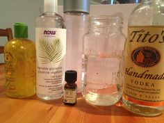 Life in Homemade Mouthwash 2 ounces Aloe vera gel (keeps gums healthy) 2 ounces Vodka (optional, but it's a great antiseptic 3 ounces Distilled Water (filtered water is fine) ½ tsp. Vegetable glycerin (adds a slight sweetness without contributing to tooth decay) 14 drops peppermint (you could replace some of the peppermint with cinnamon or even orange. ) A sterilized Bottle (some insist on glass, but plastic is fine.) Combine and shake!