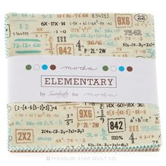 Go back to school in style with the Elementary Charm Pack - Sweetwater - Moda Fabrics #msqc