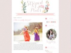 Striped Pink Blogger Template Theme (6). £15.00, via Etsy.