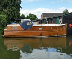 A 'Banham' boat from the yard on the River Cam.