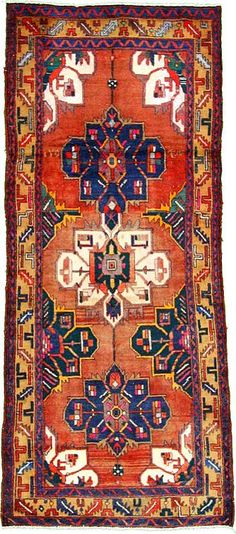Rust Red Hamedan Area Rug