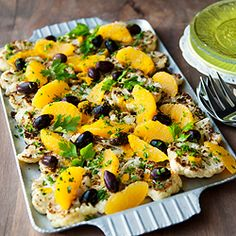 ... roasted cauliflower salad with oranges and olives. It's addictive