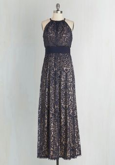Chance to Captivate Dress. An evening as elegant as tonight's calls for this navy gown! #blue #modcloth