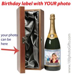 9 best custom champagne bottle labels for birthdays and anniversary