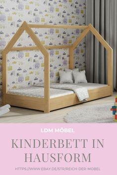 Das Bett, von dem Ihre Kinder geträumt haben!  Das Bett bietet den Kindern ein eigenes kleines Reich. Das Kinderbett ermöglicht dem Kind bequem in seinem Bett zu spielen.    #Bett #Kinderbett #Kinderhaus #Holzbett #Hausbett #Babybett