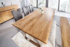 Jedálenský stôl z masívneho dubového dreva GENISIS LIGHT 180.