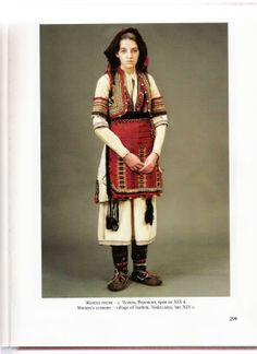 Bulgarian dress from Voden region, Greece. Album by Anita Komitska