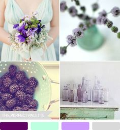 Party Palette}: Shades of Mint + Lavender http://www.theperfectpalette.com/2013/01/party-palette-shades-of-mint-lavender.html