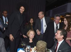 Colin Kaepernick (L) and Ethel Kennedy (C) attend Robert F. Kennedy Human Rights Hosts Annual Ripple Of Hope Awards Dinner on December 13, 2017 in New York City. - Robert F. Kennedy Human Rights Hosts Annual Ripple of Hope Awards Dinner - Inside