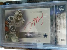 2011 Topps Demarco Murray Red Ink Auto #39 /75 ROOKIE  Graded 9/10 #DallasCowboys