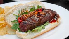 """Steakage"" Ultimate Steak Sandwich for the Super Bowl Tailgate Steak Sandwich Recipes, Veggie Sandwich, Sandwich Shops, Steak Sandwiches, Vietnamese Sandwich, Marinated Pork Tenderloins, Food Wishes, Baked Garlic, Hamburgers"