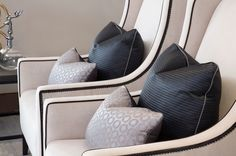 Christo Large - Occasional Chairs - Collection: The Sofa & Chair Company - we manufacture some of the most beautiful upholstered furniture in London. Luxury Cushions, Cushions On Sofa, Sofa Chair, Scatter Cushions, Pillows, London Living Room, Home Living Room, Living Spaces, Room London