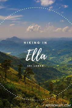 Breathtaking Hikes Above 2000m - Hiking in Ella, Sri Lanka. #VisitSriLanka
