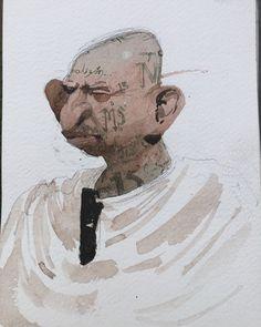 """Ricardo Acosta Mendoza. Alias """"La Guadaña"""" by Ram Tamez."""