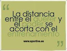 La distancia entre el querer y el poder se acorta con el #entrenamiento  #entrenamiento #motivación #deporte #frases