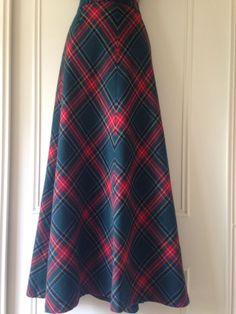 Vintage Red Tartan Skirt Riding Victorian Steampunk Maxi Skirt Laird Of Portch   eBay £99.99 (BIN) +4.99PP