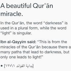 在古蘭經中,黑暗是複詞,光明是單詞,因為通往黑暗的道路有很多條,但通往光明,只有一條。很有趣 #faith of #life #love #Allah ⭐️