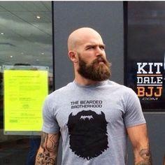 Shaved Head With Beard - 90 Beard Styles For Bald Men Bald Men With Beards, Bald With Beard, Great Beards, Awesome Beards, Full Beard, Bald Guy, Bart Tattoo, Bart Styles, Barba Grande