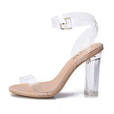 90b8d56113ea   22.99  Women s Jelly Sandals PVC(Polyvinyl chloride) Spring   Summer  Transparent Shoes Sandals Chunky Heel   Block Heel Peep Toe Buckle White    Black ...