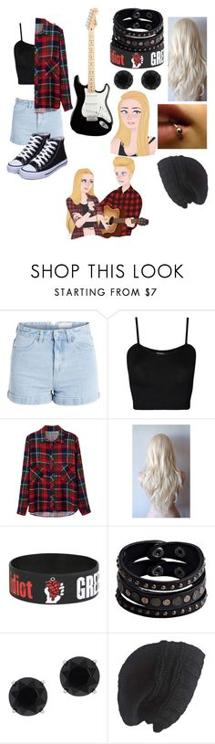 """""""Genderbent Luke hemmings"""" by gglloyd ❤ liked on Polyvore featuring Pieces, WearAll, Replay, Anne Klein and Laundromat"""