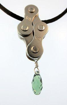 Bijoux chaîne de vélo collier de chaîne de par BikerChickDesign