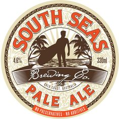 South Seas: good use of background texture. Source: http://www.inspirationmix.com/inspirational-beer-logos/