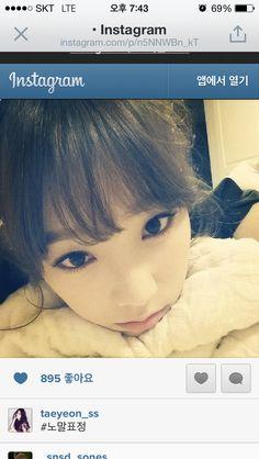 Taeyeon instagram selfcamera