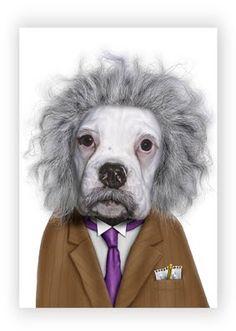 Famous Faces by Takkoda : Dog as Einstein