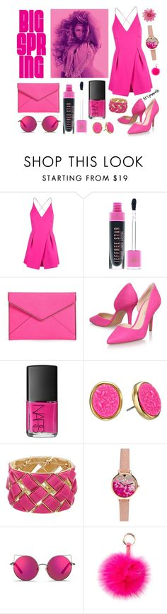 """Pink"" by selena-sok on Polyvore featuring Topshop, Rebecca Minkoff, Nine West, NARS Cosmetics, Kate Spade, Matthew Williamson, RAJ, Spring, springfashion and myfavorite"