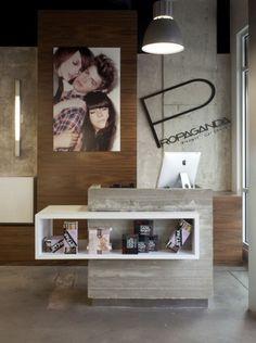 modern hair salon decorations, modern design, hair salon