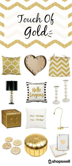 Want to give your home the Midas Touch? These 40 gorgeous home decorating accessories will do the trick.