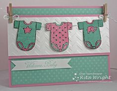 Freshly Made Baby by - Cards and Paper Crafts at Splitcoaststampers Baby Scrapbook, Scrapbook Cards, Scrapbooking, Scrapbook Layouts, New Baby Cards, Baby Wedding, Beautiful Handmade Cards, Baby Shower Cards, Card Maker