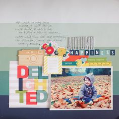 #papercrafting #scrapbook #layout.  page by shimelle laine @ shimelle.com