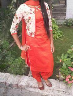 Punjabi suits Punjabi Suits Designer Boutique, Indian Designer Suits, Designer Salwar Suits, Indian Suits, Salwar Neck Designs, Kurta Designs Women, Blouse Designs, Punjabi Suit Simple, Patiala Salwar Suits