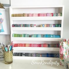Washi Tape Craft Wall Storage by SowRendipity on Etsy